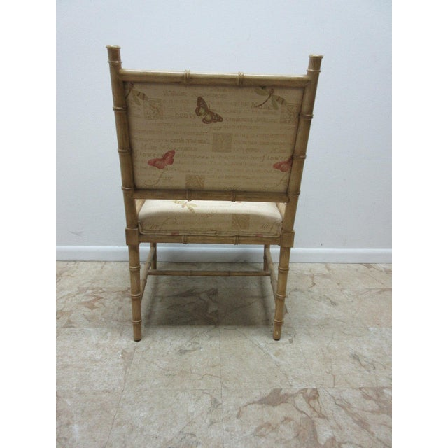Vintage Faux Bamboo Regency Armchair For Sale - Image 5 of 9