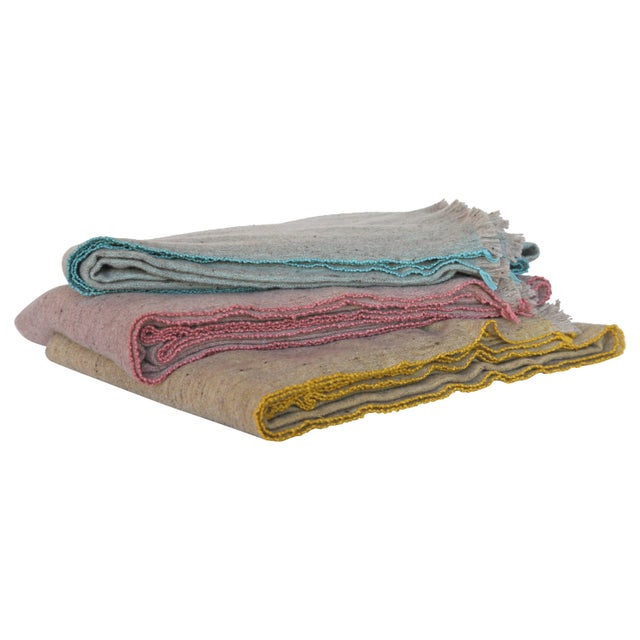 Modern Merino Wool and Bamboo Blankets For Sale - Image 3 of 3