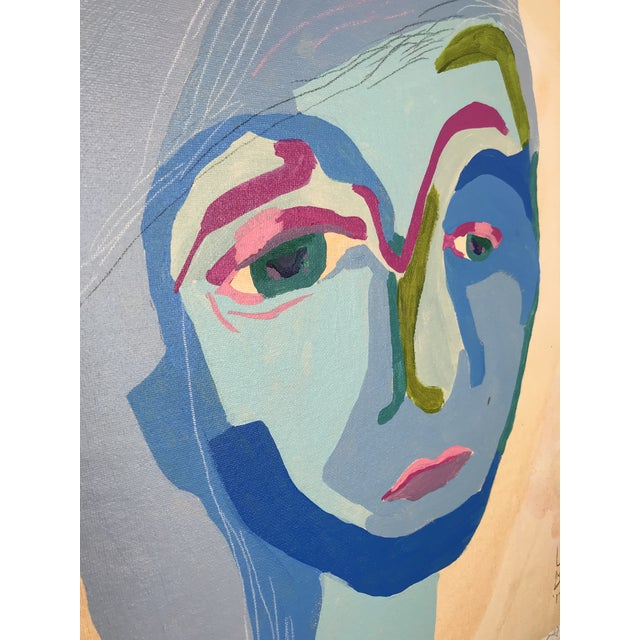 This abstract portrait is by contemporary artist Linda Ward of Detroit. This portrait is #144 out of a series of 500...