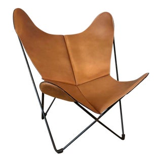Jorge Ferrari-Hardoy for Knoll Leather Butterfly Chair For Sale