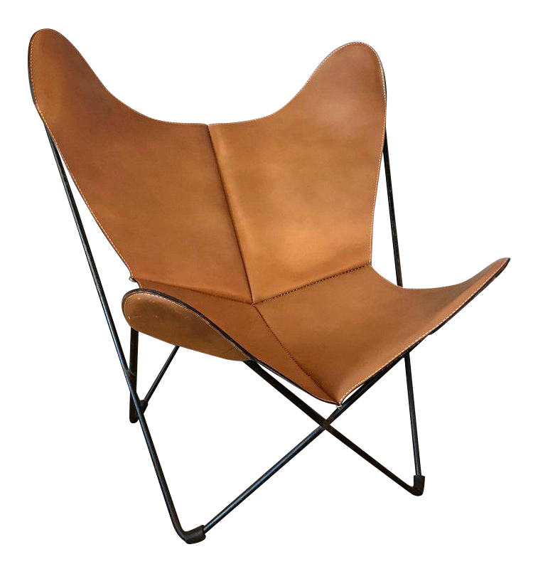 Jorge Ferrari Hardoy For Knoll Leather Butterfly Chair