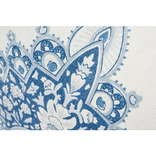 Contemporary Schumacher Double-Sided Pillow in Montecito Medallion Linen Print For Sale - Image 3 of 7