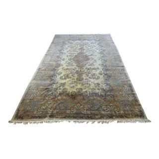 Late 20th Century Palace Size and Finely Hand Woven Kerman Rug - 11′ × 19′1″ For Sale