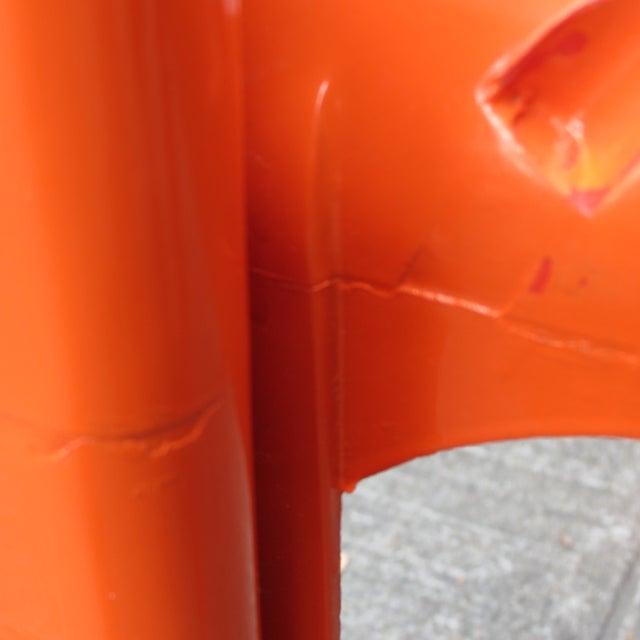 Plastic Mid Century Magistretti Italian Artemide Selene Poppy Orange Chairs- Set of 4 For Sale - Image 7 of 8