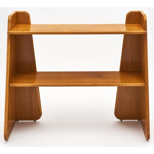 French Modernist Oak Console For Sale - Image 10 of 10