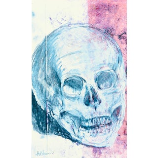 "Modern ""Skull on Pink"" by Martha Holden For Sale"