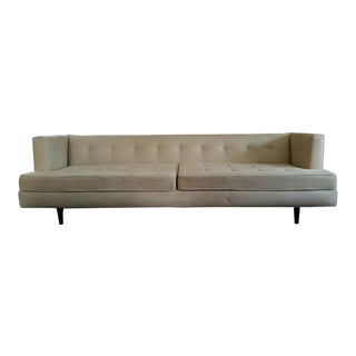 Edward Wormley Dunbar Mid-Century Modern Taupe Upholstered Sofa
