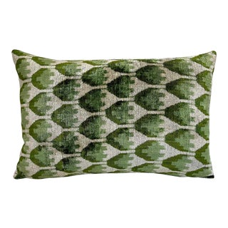 Velvet Lumbar Accent Pillow For Sale