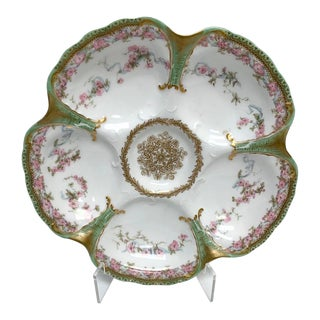 Antique French Limoges Oyster Plate For Sale