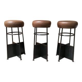 20th Century Vintage Modernist Bar Stools - Set of 3
