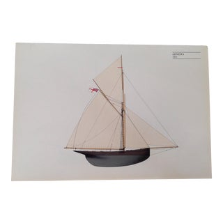 "1885 Sailboat Litho Print. ""Genesta"" For Sale"