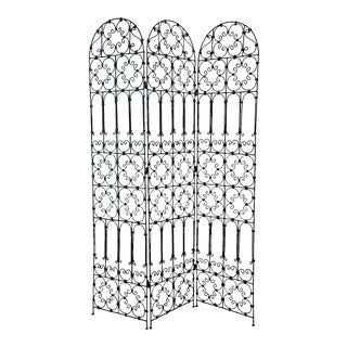 Three Panel Iron Screen For Sale