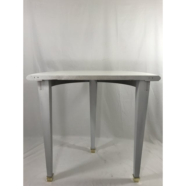 FrenchWhite Lacquered Consoles - a Pair For Sale - Image 6 of 8