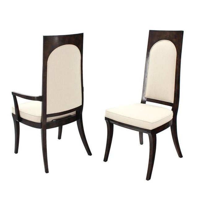 Gorgeous newly upholstered dining chairs by Mastercraft.