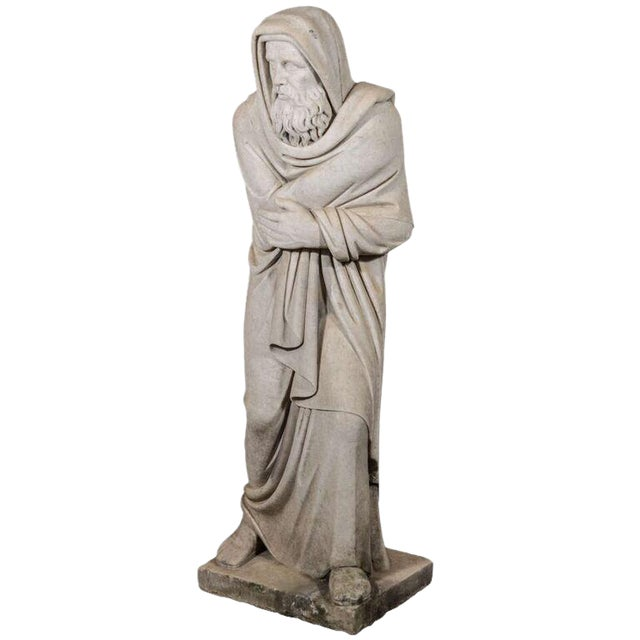 Italian Carrara Marble Statue For Sale