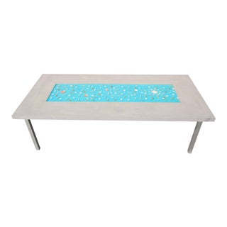 Organic Seashells Modern Dining Table For Sale