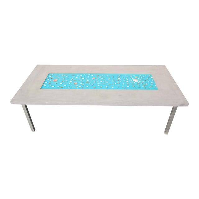 Organic Seashells Modern Dining Table - Image 1 of 7