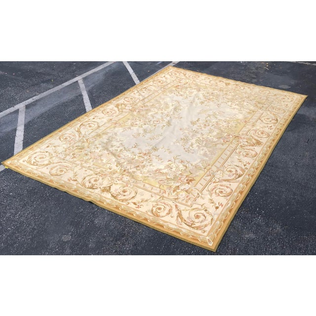 Absolutely Stunning French Aubusson Needlepoint Rug For Sale In Los Angeles - Image 6 of 6