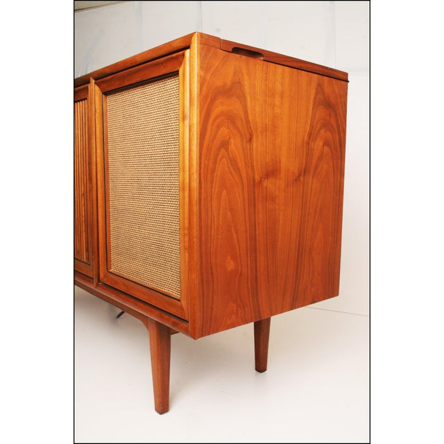 Danish Modern Drexel Mid-Century Modern Record Console Credenza For Sale - Image 3 of 11