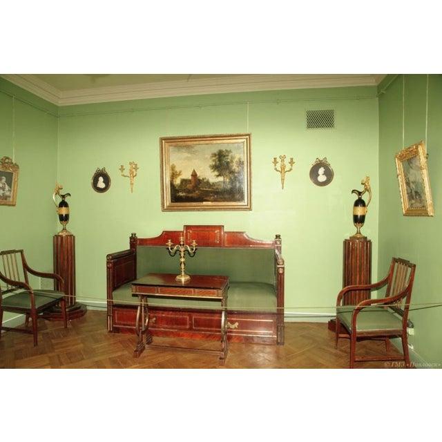 Art Nouveau Late 19 Century Russian Czarist Regency Library Table For Sale - Image 3 of 12