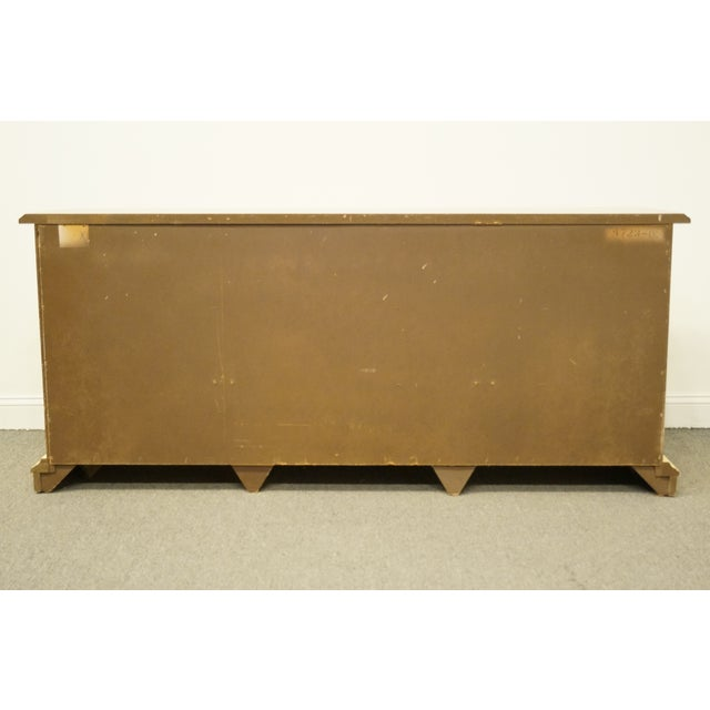 20th Century French Provincial Stanley Furniture Cream Painted Triple Door Dresser For Sale - Image 10 of 12