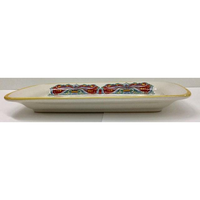 Ceramic Vintage Italian Ceramica Nova Deruta Hand Painted Platter For Sale - Image 7 of 10
