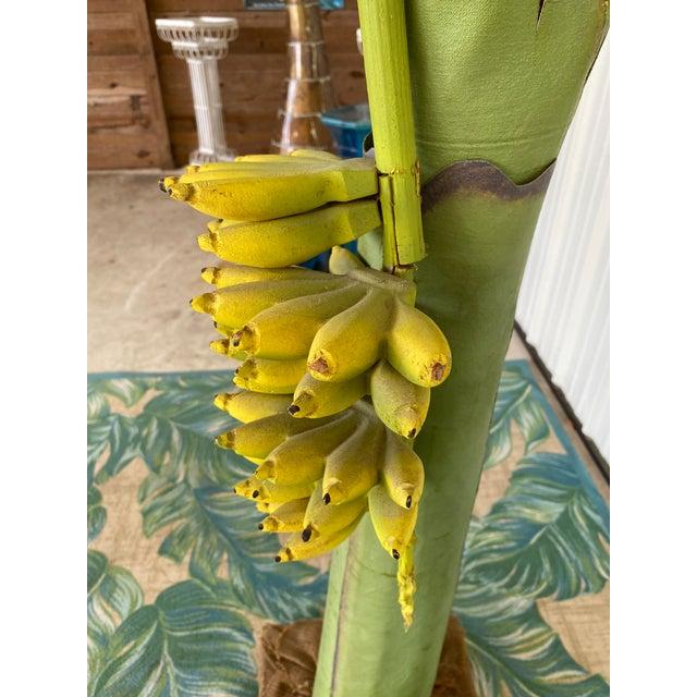 Vintage Coastal Regency Green Canvas Banana Palm Tree For Sale In Naples, FL - Image 6 of 12