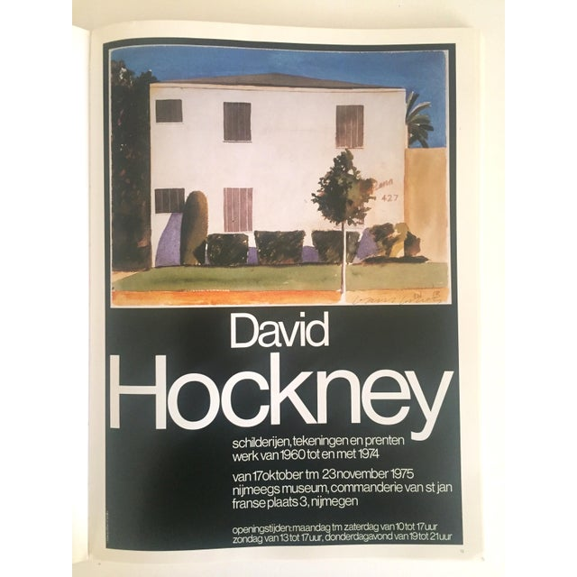 """Vintage 1987 """"Hockney Posters"""" Rare 1st Edtn Extra Large Collector's Art Book For Sale - Image 10 of 11"""