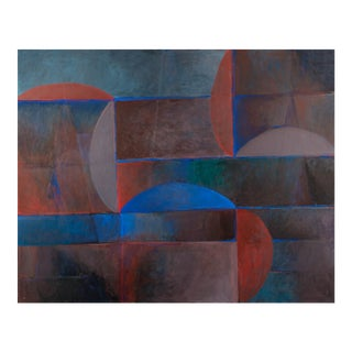 Modernist Abstract Painting by Richard Roberts For Sale