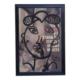 """1970s Vintage """"Marilyn Monroe"""" Painting by Piter Robert Keil For Sale"""