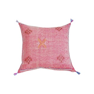 Moroccan Dusty Pink Silk Sabra Throw Pillow