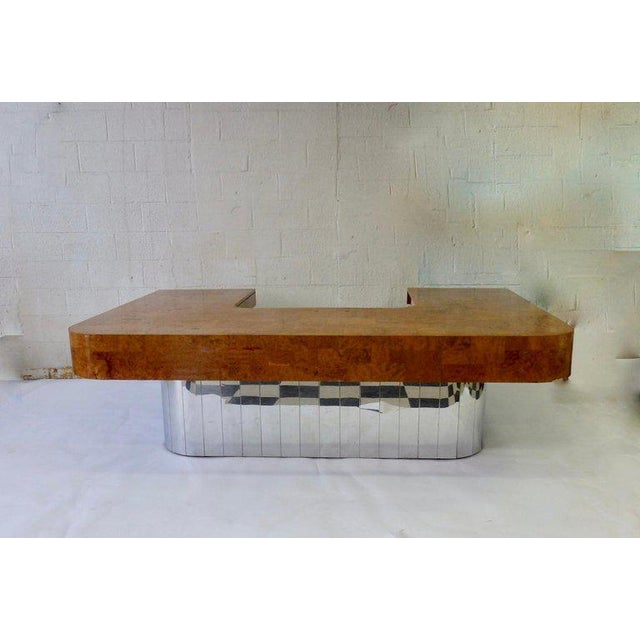 Large ? Oversize ? Massive ? Maybe over scale is the proper term. But yes a big desk. Executive desk designed by Paul...