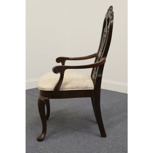 Late 20th Century Late 20th Century Vintage Thomasville Mahogany Collection Arm Chair For Sale - Image 5 of 10