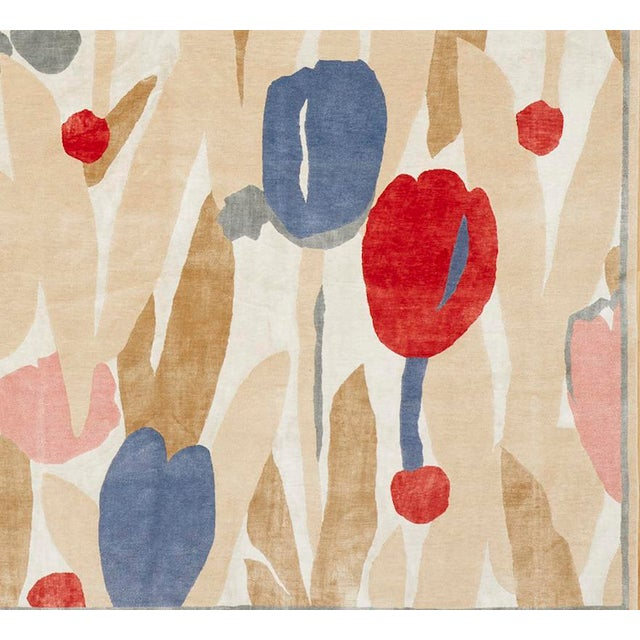 Contemporary Schumacher Patterson Flynn Martin Promenade De Printemps Grande Hand Knotted Wool Silk Modern Rug For Sale - Image 3 of 5