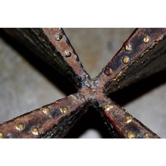 Paul Evans Brutalist Steel Coffee Table For Sale - Image 4 of 13
