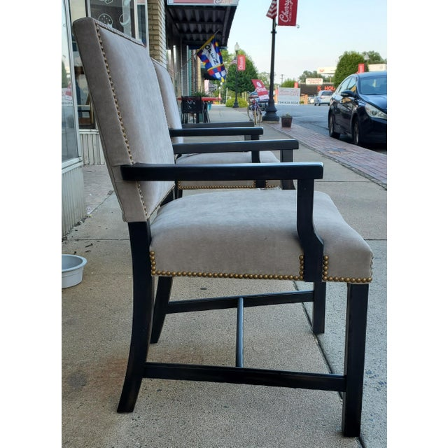 2020s Henredon Furniture Mark D. Sikes Sheffield Upholstered Arm Chair For Sale - Image 5 of 11