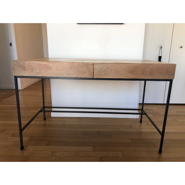 West Elm Industrial Storage Desk For Sale - Image 9 of 9