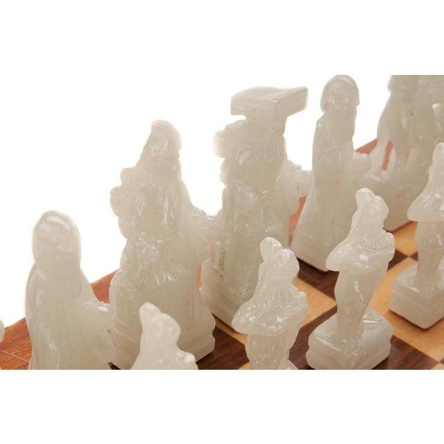 Chinese Green & White Jade Soap Stone Chess Set - Image 7 of 8