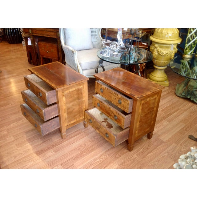 Pair of Italian Chair Side Chests For Sale - Image 4 of 13
