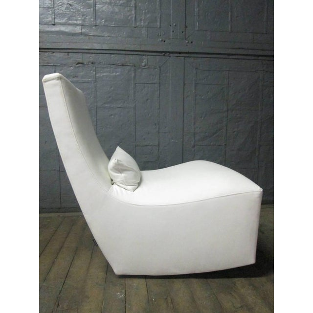 Modern Leather Lounge Chair and Ottoman by Ligne Roset For Sale - Image 3 of 10