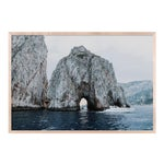 Faraglioni with Boat by Natalie Obradovich in Natural Maple Framed Paper, Large Art Print