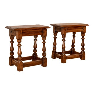 Pair of 19th-C. Joint Stools For Sale
