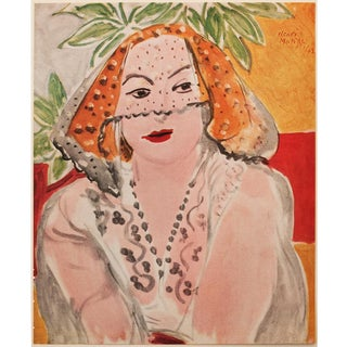 """1946 Henri Matisse """"Woman With Violet"""", First Edition Period Parisian Lithograph For Sale"""