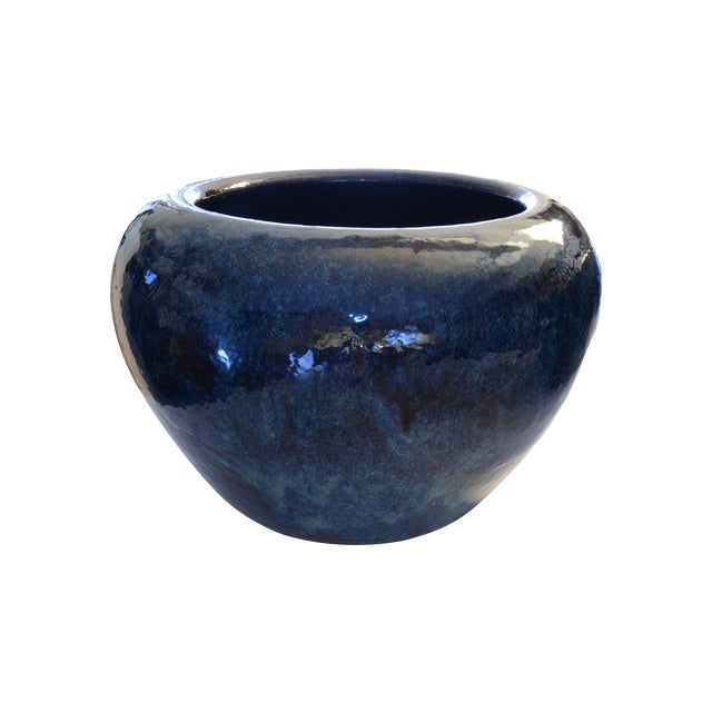 Ceramic Vintage Blue Hibachi - Image 1 of 3