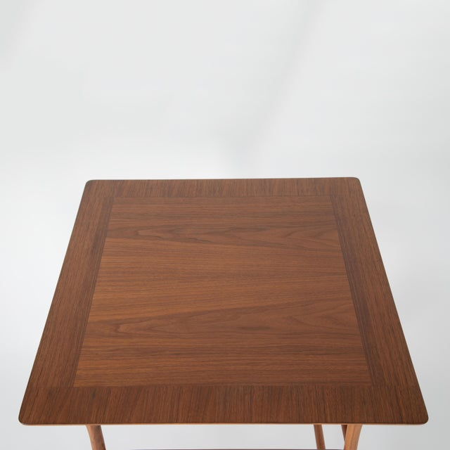 Wood Walnut Nesting Tables Inspired by T.H. Robsjohn-Gibbings, Circa 1990s - a Pair For Sale - Image 7 of 13