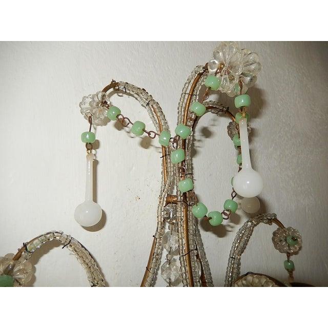 French Rare Sea Foam Green Opaline Sconces, circa 1920 For Sale - Image 11 of 12