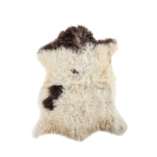 "Contemporary Natural Sheepskin Pelt - 2'6""x3'0"""