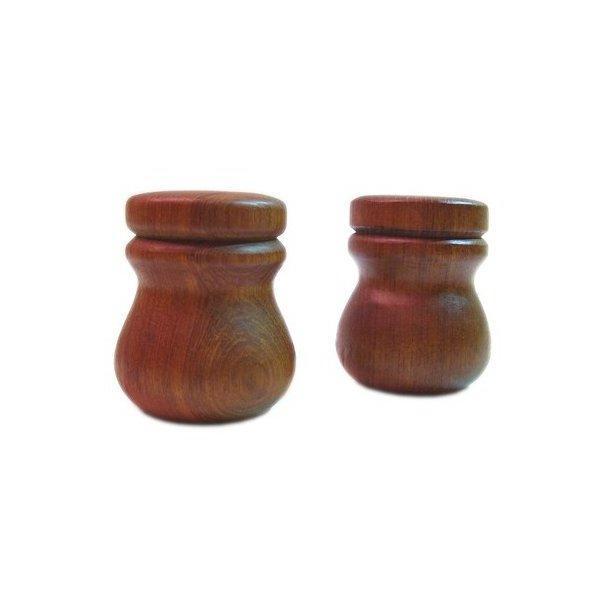 Teak Salt and Pepper Shakers - Pair - Image 1 of 3