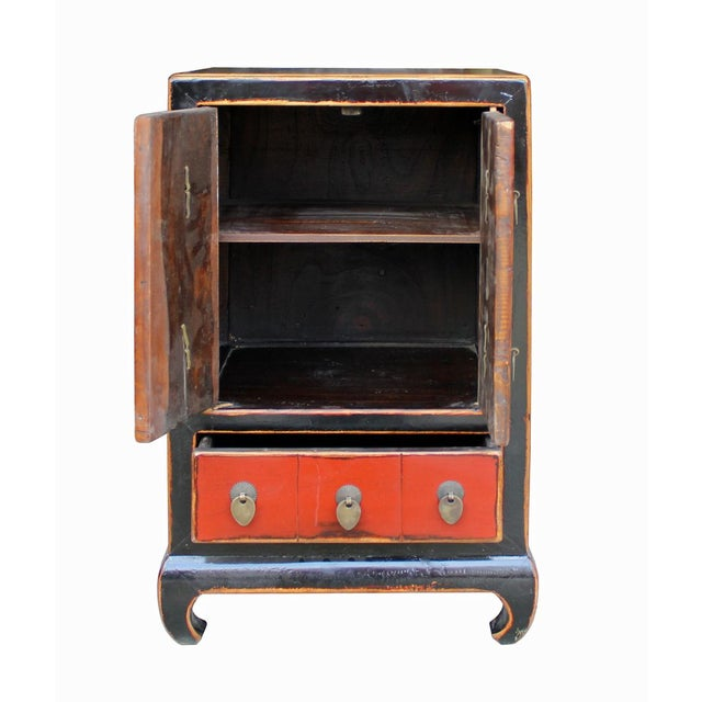 Chinese Black & Red Lacquer Cabinet - Image 5 of 6