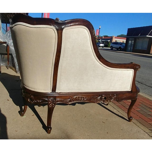 White Henredon Furniture Sabine Mahogany Left Arm Chaise For Sale - Image 8 of 12